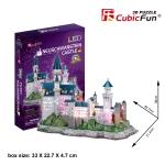 Neuschwanstein Castle CubicFun L174h 3D Puzzle 128 Pieces ปราสาทนอยชวานชไตน์ จิ๊กซอว์ 3 มิติ (LED)