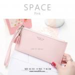 กระเป๋าสตางค์ผู้หญิง ทรงถุง รุ่น SPACE สีชมพู