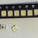 หลอดLED 2835 3.5X2.8mm 3V แท้ สำหรับทีวี สีขาวเย็น cool white