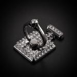 แหวนมือถือ ขวดน้ำหอมประดับคริสตัล (Classic Black)