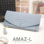 กระเป๋าสตางค์ผู้หญิง AMAZ-L สีฟ้า