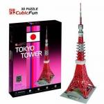 โตเกียวทาวเวอร์ Tokyo Tower(Japan) Total: 50 pcs Model Size: 20*23*62 cm