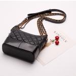 กระเป๋าหนังแกะ gabrielle bag size 20 (Black)