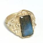 แหวนเงิน หัวแหวน Labradorite