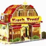 ร้านขายขนมปัง น่ารัก โมเดล 3 มิติ ตัวต่อกระดาษโฟม จิ๊กซอว์ 3มิติ