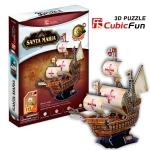 Santa Maria Ship Cubic Fun 3D Puzzle Size 44*16*39 cm. Total 113pcs.