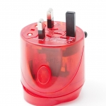 Universal Travel Adaptor RED