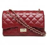 กระเป๋าหนังวัว ทรงชาแนล คลาสสิก 11 นิ้ว (Red)