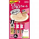 พร้อมส่ง ** Ibana - CIAO Chu~ru [Maguro & Katsuo for over 11 years] ขนมแมวเลีย ชนิดครีม ใช้ปลาทูน่ามากูโร่และปลาโอญี่ปุ่นเป็นส่วนประกอบหลัก สูตรสำหรับแมวแก่อายุ 11 ปีขึ้นไป ผสมคอลลาเจน ทานง่ายน้องแมวชอบมากๆ ฮิตสุดๆ ทั้งที่ไทยและญี่ปุ่น Made in Japan