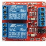 5V 2 Channel Relay Module with Optocoupler Isolation Supports High and Low Trigger
