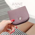 กระเป๋าสตางค์ผู้หญิง แบบบาง รุ่น ANNE สีม่วง