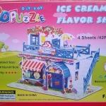 ร้านขายไอติม 3D Puzzle Model โมเดล 3 มิติ