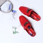 รองเท้าหนังแกะ Kelly style RED