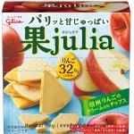 พร้อมส่ง ** Glico KaJulia Apple แอปเปิ้ลชิพ แผ่นบาง กรุบกรอบ ราดด้วยครีมผสมเนื้อแอปเปิ้ล บรรจุ 42 กรัม