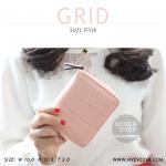 กระเป๋าสตางค์ผู้หญิง GRID สีชมพูอ่อน