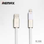 Cable Lightning and Micro to USB Cable 1000 MM RC-030i - REMAX (Silver&White)