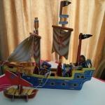 Pirate Ship โมเดลกระดาษ โฟม รูปเรือโจรสลัด อย่างง่าย