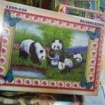 จิ๊กซอว์ 1200 ชิ้น รูปหมีแพนด้า Jigsaw Happiness 1200 Pcs.