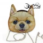 กระเป๋าหน้าหมา ชิบะ สายโซ่