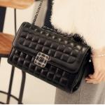 กระเป๋าหนังแกะ ทรง Chanel Black/ กระเป๋าหนังแท้