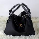 กระเป๋า hermes Lindy 26' Black (อะไหล่ทอง)