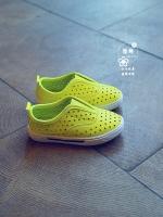 รองเท้าแฟชั่นเด็กสีเหลือง แบบลำลอง ระบายอากาศ สวมใส่ง่าย