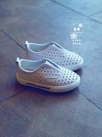 รองเท้าแฟชั่นเด็กสีขาว แบบลำลอง ระบายอากาศ สวมใส่ง่าย