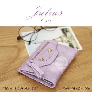 กระเป๋าสตางค์ผู้หญิง JULIUS สีม่วง