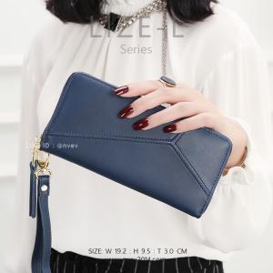กระเป๋าสตางค์ผู้หญิง LIZE-L สีน้ำเงินกรม