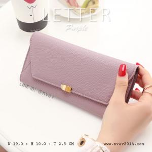 กระเป๋าสตางค์ผู้หญิง รุ่น LETTER สีม่วง