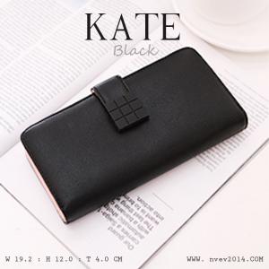 กระเป๋าสตางค์ผู้หญิง รุ่น KATE สีดำ ใบยาว