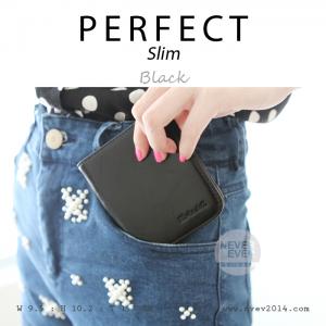 กระเป๋าสตางค์ผู้หญิง PERFECR Slim สีดำ