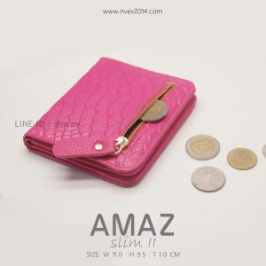 กระเป๋าสตางค์ผู้หญิง แบบบาง รุ่น AMAZ SlimII สีชมพู