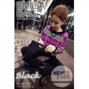 กระเป๋าสะพายข้าง รุ่น EMILIABAG - Black