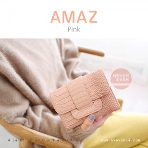 กระเป๋าสตางค์ผู้หญิง ขนาดกลาง รุ่น AMAZ สีชมพู