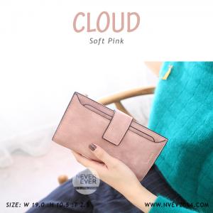 กระเป๋าสตางค์ผู้หญิง รุ่น CLOUD สีชมพู ใบยาว