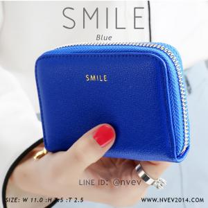 กระเป๋าใส่บัตร เอนกประสงค์ รุ่น SMILE น้ำเงิน