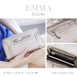 กระเป๋าสตางค์ผู้หญิง รุ่น EMMA สีเงิน