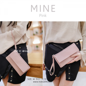 กระเป๋าสตางค์ผู้หญิง ทรงถุง รุ่น MINE สีชมพู