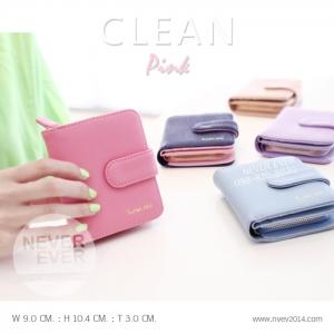 กระเป๋าสตางค์ผู้หญิง CLEAN ชมพูเข้ม Pink