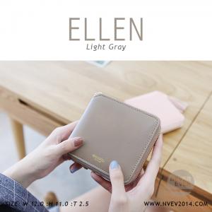 กระเป๋าสตางค์ผู้หญิง ELLEN สีเทา gray