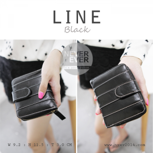กระเป๋าสตางค์ผู้หญิง LINE สีดำ Black