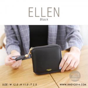 กระเป๋าสตางค์ผู้หญิง ELLEN สีดำ black