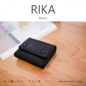 กระเป๋าสตางค์ผู้หญิง รุ่น RIKA สีดำ Black