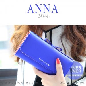 กระเป๋าสตางค์ผู้หญิง รุ่น ANNA สีน้ำเงิน ใบยาว