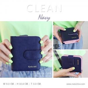 กระเป๋าสตางค์ผู้หญิง CLEAN สีน้ำเงิน Navy