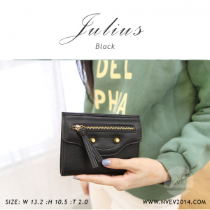 กระเป๋าสตางค์ผู้หญิง JULIUS สีดำ