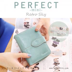 กระเป๋าสตางค์ผู้หญิง รุ่น PERFECT-mini สีฟ้า ใบสั้น