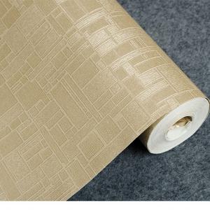wallpaper ติดผนัง สไตล์โมเดิร์น สีน้ำตาลทอง