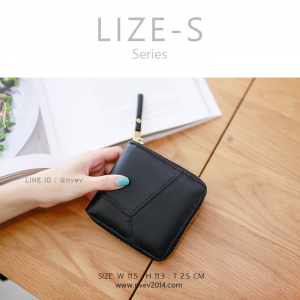 กระเป๋าสตางค์ผู้หญิง LIZE-S สีดำ